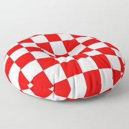 Checker (Red/White) Floor Pillow