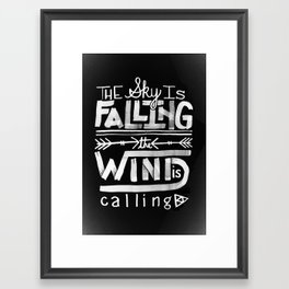 Falling Framed Art Print