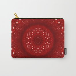 Holiday Red Mandala Carry-All Pouch