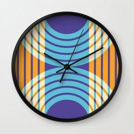 quadruple rainbow reverb Wall Clock