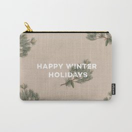 Happy Winter Holidays Carry-All Pouch