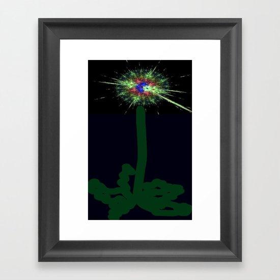 My Implosive Dandelion Framed Art Print
