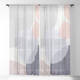 Pastel Shapes III Sheer Curtain