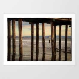 Looking Deeper Morro Bay through Cayucos Pier Art Print