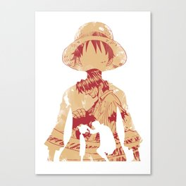 Luffy and Shanks Canvas Print