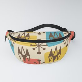 Mid Century Modern Abstract Atomic Diamonds 428 Fanny Pack
