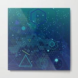 Symbols and elements of Sacred geometry Metal Print