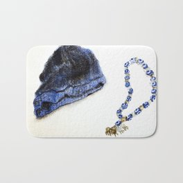 Blue Beed Protects You Bath Mat