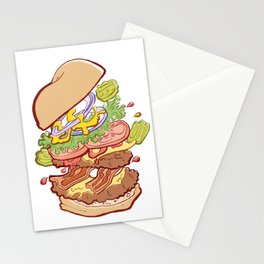 Hamburger Time Stationery Cards