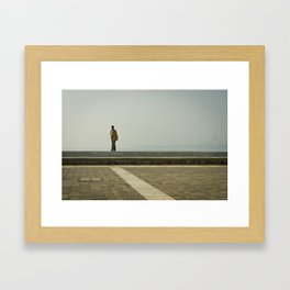 Walk along the Sea Framed Art Print