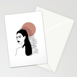 she was red Stationery Cards