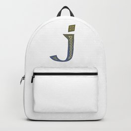 Celtic Knotwork Alphabet - Letter J Backpack