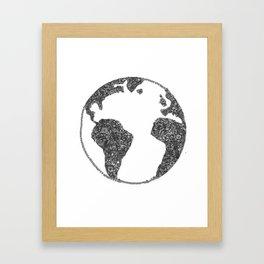 Global Flowers Framed Art Print
