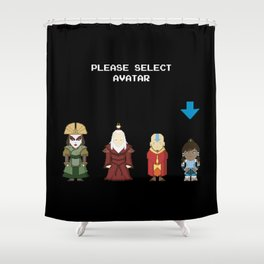 Avatar Selection Screen Shower Curtain