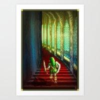 Pixel Art series 18 : Before the fight Art Print