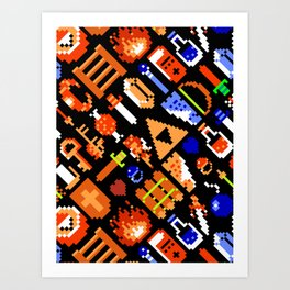 The Legend of Zelda (NES) Pattern Art Print