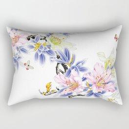 Hand-painted flowers Rectangular Pillow