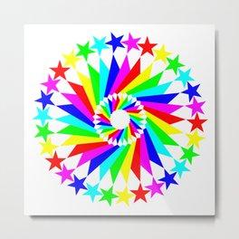 United Pentagrams of Color Metal Print