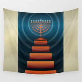 Art Deco Hanukkah Wall Tapestry