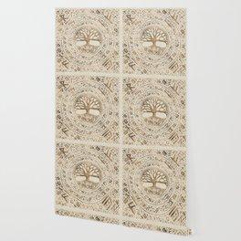 Tree of life -Yggdrasil Runic Pattern Wallpaper