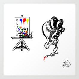 Blanking... Art Print