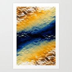 Tie-Dyed Waves Art Print