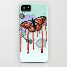 Leaking butterfly iPhone Case
