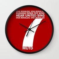 ronaldo Wall Clocks featuring Cristiano Ronaldo Chant by Maxvtis