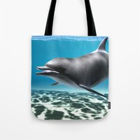 dolphin Tote Bags featuring Dolphin by Design Windmill