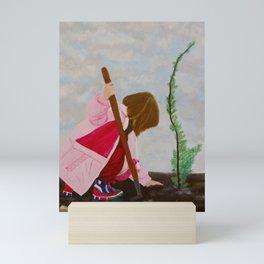 A girl Mini Art Print