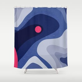 Dot | Happy modern Art Shower Curtain