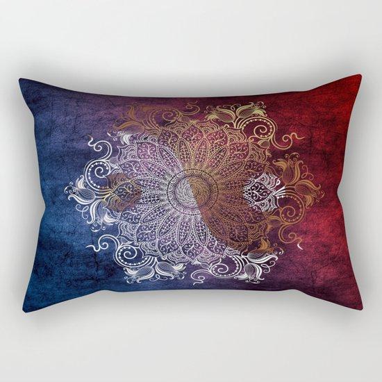 Mandala - Fire & Ice, yang version Rectangular Pillow