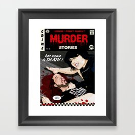 MURDER STORIES Framed Art Print