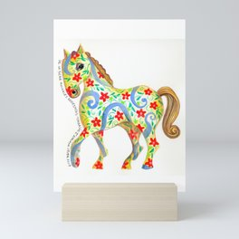 """caballo I"" serie : animales dométicos. Mini Art Print"