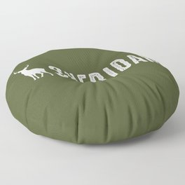 Deer: Sheridan, Wyoming Floor Pillow