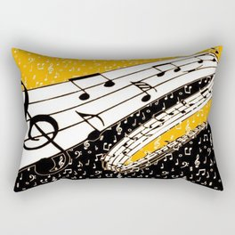 Gold music theme Rectangular Pillow