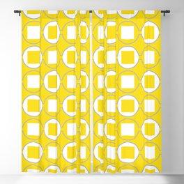 Lemon Yellow Contemporary Bead Pattern Blackout Curtain