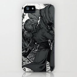 Kiss on the battlefield iPhone Case