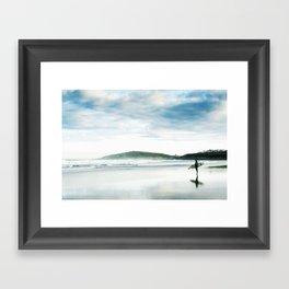 Fistral Surfer Framed Art Print
