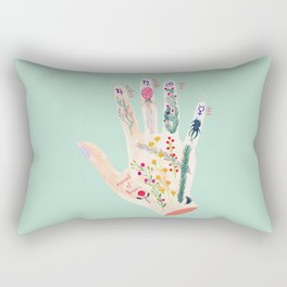 Botanical palmistry Rectangular Pillow