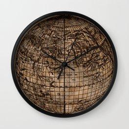 Vintage Old World Map Design Wall Clock