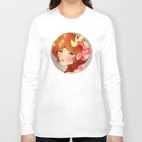 lily Long Sleeve T-shirts featuring Lily by Jenny Lloyd Illustration