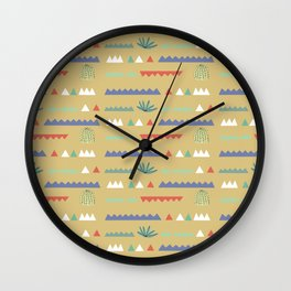 Geometrical Cacti Wall Clock
