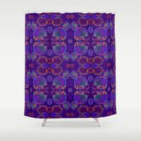 bubbles Shower Curtains featuring Bubbles by ARTDROID