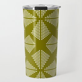 Geometric Dots Pattern - Green Travel Mug
