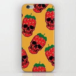 Skull Strawberries  iPhone Skin