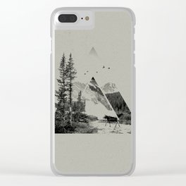 Natural Shapes Clear iPhone Case