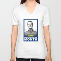 prometheus V-neck T-shirts featuring Prometheus - David 8 - Employee of the month by Yiannis