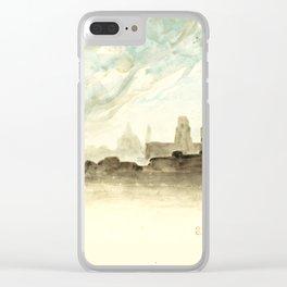 """Eugène Delacroix """"The Roofs of Paris"""" Clear iPhone Case"""