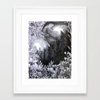 sun and moon Framed Art Prints featuring Sun & Moon by Isobelle Ouzman